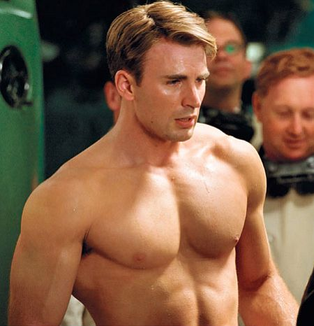 Chris Evans Fisico